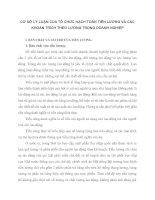 CƠ SỞ LÝ LUẬN CỦA TỔ CHỨC HẠCH TOÁN TIỀN LƯƠNG VÀ CÁC KHOẢN TRÍCH THEO LƯƠNG TRONG DOANH NGHIỆP