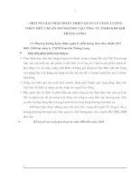 MỘT SỐ GIẢI PHÁP HOÀN THIỆN QUẢN LÝ CHẤT LƯỢNG THEO TIÊU CHUẨN ISO 90012000 TẠI CÔNG TY TNHH KIM KHÍ THĂNG LONG