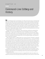 Command-Line Editing and History