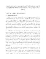 Cơ sỞ lý luẬn vỀ nghiỆp vỤ kẾ toán trích lẬp và sỬ dỤng dỰ phòng rỦi ro trong hoẠt đỘng cỦa NHTM