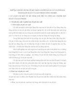 NHỮNG VẤN ĐỀ CHUNG VỀ KẾ TOÁN CHI PHÍ SẢN XUẤT VÀ TÍNH GIÁ THÀNH SẢN XUẤT CỦA SẢN PHẨM CÔNG NGHIỆP