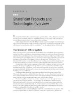 SharePoint Products and Technologies Overview