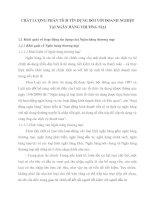CHẤT LƯỢNG PHÂN TÍCH TÍN DỤNG ĐỐI VỚI DOANH NGHIỆP TẠI NGÂN HÀNG THƯƠNG MẠI