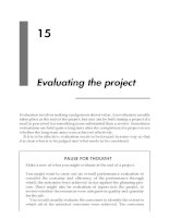 Evaluating the project