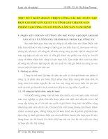 MỘT SỐ Ý KIẾN HOÀN THIỆN CÔNG TÁC KẾ TOÁN TẬP HỢP CHI PHÍ SẢN XUẤT VÀ TÍNH GIÁ THÀNH SẢN PHẨM TẠI CÔNG TY CỔ PHẦN LÂM SẢN NAM ĐỊNH
