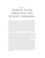 Establish Trusted Communication with WS-Secure Conversation