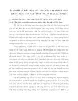 GIẢI PHÁP VÀ KIẾN NGHỊ PHÁT TRIỂN DỊCH VỤ THANH TOÁN KHÔNG DÙNG TIỀN MẶT TẠI NH VPBANK TRẦN XUÂN SOẠN