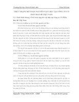 THỰC TRẠNG KẾ TOÁN NGUYÊN VẬT LIỆU TẠI CÔNG TY CỔ PHẦN BAO BÌ VIỆT NAM