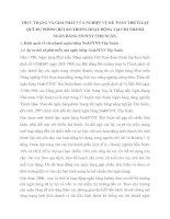 THỰC TRẠNG VÀ GIẢI PHÁP CỦA NGHIỆP VỤ KẾ TOÁN TRÍCH LẬP QUỸ DỰ PHÒNG RỦI RO TRONG HOẠT ĐỘNG TẠI CHI NHÁNH NGÂN HÀNG NNPTNT THỌ XUÂN