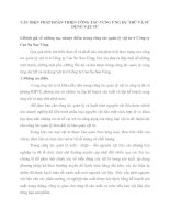 CÁC BIỆN PHÁP HOÀN THIỆN CÔNG TÁC CUNG ỨNG DỰ TRỮ VÀ SỬ DỤNG VẬT TƯ