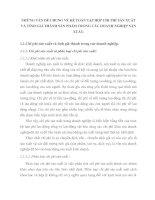 NHỮNG VẤN ĐỀ CHUNG VỀ KẾ TOÁN TẬP HỢP CHI PHÍ SẢN XUẤT VÀ TÍNH GIÁ THÀNH SẢN PHẨM TRONG CÁC DOANH NGHIỆP SẢN XUẤT