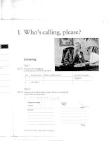 Telephoning In English  - Who''s calling, please