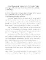 MỘT SỐ GIẢI PHÁP MARKETING NHẰM NÂNG  CAO HIỆU QUẢ TIÊU THỤ SẢN PHẨM CỦA CÔNG TY GẠCH ỐP LÁT HÀ NỘI