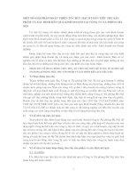 MỘT SỐ GIẢI PHÁP HOÀN THIỆN TỔ CHỨC HẠCH TOÁN TIÊU THỤ SẢN PHẨM VÀ XÁC ĐỊNH KẾT QUẢ KINH DOANH TẠI CÔNG TY XÀ PHÒNG HÀ NỘI
