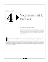 Vocabulary List 1 - Prefixes