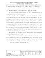 MỘT SỐ BIỆN PHÁP CẢI THIỆN TÌNH HÌNH TÀI CHÍNH TẠI CÔNG TY TNHH MỘT THÀNH VIÊN VẠN HOA HẢI PHÒNG
