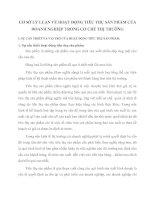 CƠ SỞ LÝ LUẬN VỀ HOẠT ĐỘNG TIÊU THỤ SẢN PHẨM CỦA DOANH NGHIỆP TRONG CƠ CHẾ THỊ TRƯỜNG