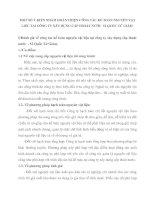 MỘT SỐ Ý KIẾN NHẰM HOÀN THIỆN CÔNG TÁC KẾ TOÁN NGUYÊN VẬT LIỆU TẠI CÔNG TY XÂY DỰNG CẤP THOÁT NƯỚC  52 QUỐC TỬ GIÁM