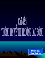 Chu de 5: Thong tin ve thi truong lao dong