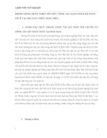 PHƯƠNG HƯỚNG HOÀN THIỆN TỔ CHỨC CÔNG TÁC HẠCH TOÁN KẾ TOÁN THUẾ TẠI NHÀ MÁY THIẾT BỊ BƯU ĐIỆN