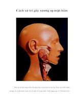 Cách xử trí gãy xương sọ-mặt-hàm