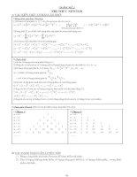 Bài tập hay về nhị thức newton