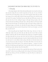 GIẢI PHÁP CHO ĐÀO TẠO THEO NHU CẦU Ở NƯỚC TA