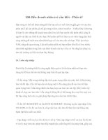 100 điều doanh nhân trẻ cần biết - Phần 6!