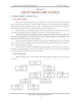 Giáo trình Công nghệ chế tạo máy - Chương IV