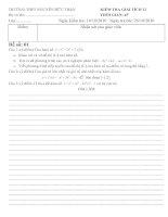 Kiểm tra 1 tiết GT 12- Chương 1 - 2 đề