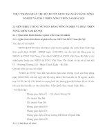 THỰC TRẠNG QUẢN TRỊ  RỦI RO TÍN DỤNG TẠI NGÂN HÀNG NÔNG NGHIỆP VÀ PHÁT TRIỂN NÔNG THÔN NAM HÀ NỘI