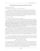 Bài cảm tưởng về ngày Nhà giáo Việt Nam