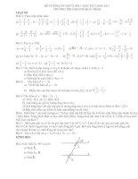 Đe cương ôn tập toán 7 kỳ 1