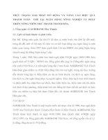 THỰC TRẠNG GIẢI PHÁP MỞ RỘNG VÀ NÂNG CAO HIỆU QUẢ THANH TOÁN  THẺ TẠI NGÂN HÀNG NÔNG NGHIỆP VÀ PHÁT TRIỂN NÔNG THÔN NHƯ THANH THANH HÓA