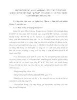 MỘT SỐ GIẢI PÁH NHẰM MỞ RỘNG CÔNG TÁC THNH TOÁN KHÔNG DÙNH TIỀN MẶT TẠI NGÂN HÀNG ĐẦU TƯ VÀ PHÁT TRIỂN CHI NHÁNH QUANG TRUNG