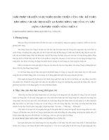 GIẢI PHÁP VÀ KIẾN NGHỊ NHẰM HOÀN THIỆN CÔNG TÁC KẾ TOÁN BÁN HÀNG VÀ XÁC ĐỊNH KẾT QUẢ BÁN HÀNG TẠI CÔNG TY XÂY DỰNG VÀ PHÁT TRIỂN NÔNG THÔN 9