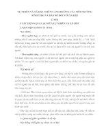 TỰ NHIÊN VÀ XÃ HỘI  NHỮNG ẢNH HƯỞNG CỦA MÔI TRƯỜNG  SINH THÁI VÀ DÂN SỐ ĐỐI VỚI XÃ HỘI
