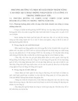 PHƯƠNG HƯỚNG VÀ MỘT SỐ GIẢI PHÁP NHẰM NÂNG CAO HIỆU QUẢ HOẠT ĐỘNG NHẬP KHẨU CỦA CÔNG TY TRONG THỜI GIAN TỚI