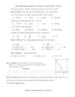 đề thi lớp 5. chuẩn kiến thức kĩ năng
