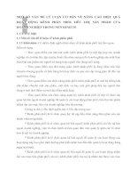 MỘT SỐ VẤN ĐỀ LÝ LUẬN CƠ BẢN VỀ NÂNG CAO HIỆU QUẢ HỌAT ĐỘNG KÊNH PHÂN PHỐI TIÊU THỤ SẢN PHẨM CỦA DOANH NGHIỆP TRONG NỀN KINH TẾ
