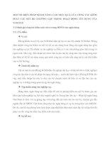 MỘT SỐ BIỆN PHÁP NHẰM NÂNG CAO HIỆU QUẢ CỦA CÔNG TÁC KIỂM SOÁT CÁC RỦI RO THƯỜNG GẶP TRONG HOẠT ĐỘNG TÍN DỤNG CỦA VCB HUẾ