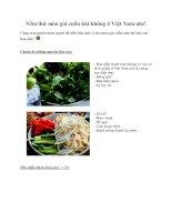 Nếm thử món gỏi cuốn khi không ở Việt Nam nhé!
