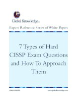 7Types of Hard CISSP Exam Questions and How To Approach Them