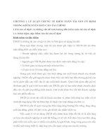 CHƯƠNG 1 LÝ LUẬN CHUNG VỀ KIỂM TOÁN TÀI SẢN CỐ ĐỊNH TRONG KIỂM TOÁN BÁO CÁO TÀI CHÍNH