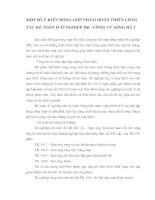 MỘT SỐ Ý KIẾN ĐÓNG GÓP NHẰM HOÀN THIỆN CÔNG TÁC KẾ TOÁN Ở XÍ NGHIỆP 206 - CÔNG TY SÔNG ĐÀ 2