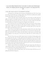 CÁC GIẢI PHÁP NHẰM NÂNG CAO CHẤT LƯỢNG SẢN PHẨM MẶT HÀNG ÁO PHÔNG ĐỂ ĐẨY MẠNH XUẤT KHẨU VÀO THỊ TRƯỜNG MỸ
