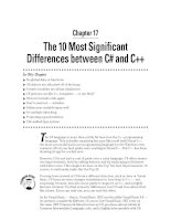 The 10 Most Significant Differences between C# and C++