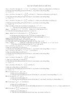 Bài tập về diện tích và thể tích