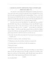 XÂY DỰNG CHƯƠNG TRÌNH TRUY NHẬP CƠ SỞ DỮ  LIỆU  THEO GIAO DIỆN CGI