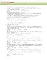 TUYỂN TẬP 717 CÂU TRẮC NGHIỆM VẬT LÝ  LUYỆN THI ĐẠI HỌC _phần 6